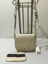 TORY BURCH Pebbled Leather EVERLY FLAP Chained Cross Body NWT- Color Cream