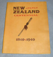Antique New Zealand Tour Book 1840-1940 Centennial Maori NZ Travel Tourism 1938
