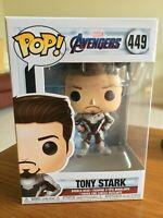 TONY STARK FIGURE #449 FUNKO POP! VINYL MARVEL AVENGERS SERIES COMBINED P&P