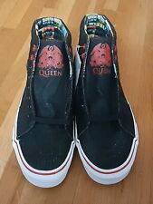 Nwt Vans Queen Black Denim Hi-Top Sneakers - Men Size 7 Women Size 8.5 Htf