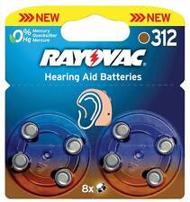 Rayovac Hearing aid batteries 1.4V 160mAh 8 pcs Perfect energy supply for all
