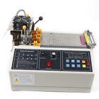 280W Automatic Textile Ribbon Cutter Hot / Cold Belt Cutting Machine 110mm Width