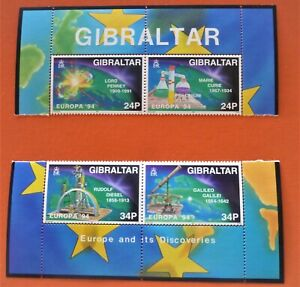 """Europa CEPT Gibraltar 1994 -  """" Europe and its discoveries"""" 4 stamps MNH**"""