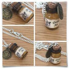 Alicia en el país de las maravillas Mini Beber Botella Conejo Blanco Reloj Collar me