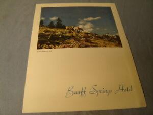 Vintage Banff Springs Hotel Canadian Pacific Dinner Menu From 1950 Scrapbook