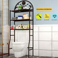 Heavy Duty 3 Layer Wire Shelving Rack Adjustable Shelf Storage Holder Bathroom