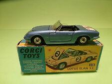 CORGI TOYS 318 LOTUS ELAN S2 - RARE SELTEN - GOOD CONDITION IN BOX