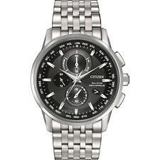 Citizen AT8110-53E Mens Atomic World Time Chronograph Eco-Drive Watch RRP $999