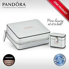 PANDORA Luxury Limited Edition Large Silver Jewellery Box WITH Accessory - NEW