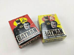 Lot of 2 1989 Topps Batman Movie Unopened Wax Boxes Series 1 & 2