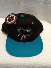 NEW SAN JOSE SHARKS ADJUSTABLE CAP BLACK AND TEAL OFFICIALLY LICENSED NHL
