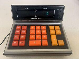 "Vintage-1977-""Unisonic 21 Jimmy the Greek Mini Blackjack Calculator""- Works"