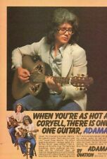 1979 Larry Coryell for Ovation Adamas Guitar - Vintage Ad