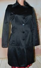 Bebe Black Trench Rain Coat Jacket  Sz XS No Belt