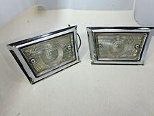 NOS 1958 Ford Fairlane reverse backup lights OEM Ford, chrome trim bezel