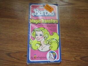 Vintage Barbie Rub N' Play Magic Transfers