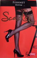 Ladies Scarlet by Silky Red Fishnet Stockings One Size Medium