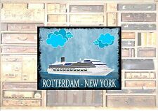 Rotterdam New York Cruise LineTravel Sticker Luggage Sticker Metal Wall Plaque