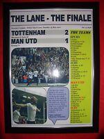 Spurs 2 Man Utd 1 - 2017 Premier League - The Lane Finale - framed print