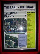 Spurs 2 Man Utd 1 - 2017 Premier League - The Lane Finale - framed print