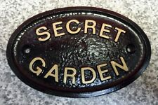 SECRET GARDEN - HOUSE DOOR PLAQUE WALL SIGN GARDEN