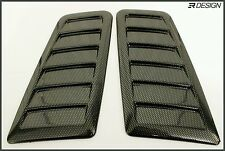 New! Focus RS Style Decorative Bonnet vent *No Cutting Required* Carbon Effect
