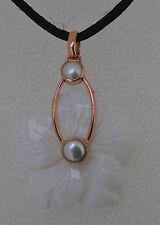 Markenlose Echtschmuck-Halsketten & -Anhänger mit Perle für Damen