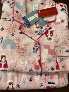 Classic Elements Sears Flannel Two Piece Pajama Set Pink  Medium New NWT