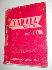 YAMAHA DT175 A DT175 B   ILLUSTRATED  PARTS LIST CATALOGUE  MANUAL