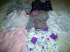 INFANT GIRLS 6 MONTH (3) 9 MONTH (3)  & 12  MONTHS (1)  SLEEPER PAJAMAS LOT OF 7