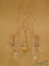 39891: Small Paint Decorated French Style Beaded Chandelier ~ NEW