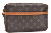 Authentic Louis Vuitton Monogram Compiegne 23 Clutch Hand Bag M51847 LV B4892