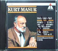 Kurt MASUR Signed TCHAIKOVSKY Symphony No.1 Winter Dreams Francesca da Rimini CD