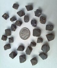 LARGEST SIZE MAGNETITE CRYSTALS from Brazil, Natural Iron Octahedrons 27pcs 45gm
