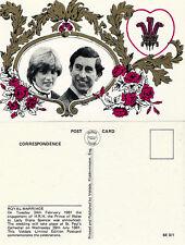 1981 ROYAL WEDDING LIMITED EDITION UNUSED POSTCARD