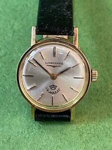 Authentic Lady LONGINES 18k Gold Jordan ROYAL CROWN KING HUSSEIN Watch R2