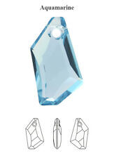 Genuine SWAROVSKI 6670 De-Art Crystal CIONDOLO ACQUAMARINA 18 mm