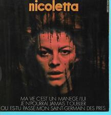 """NICOLETTA   """" MA VIE C'EST UN MANÈGE """"    ( EP 45 tours)"""