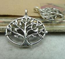 "10pc Small Pendant Charm ""Tree Of Life"" Pendant Beads Jewellery Accessories V682"