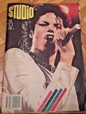 "MICHAEL JACKSON cover,POSTER  A-HA, VINTAGE MAGAZINE "" STUDIO"" 1988. YUGOSLAVIA"
