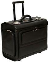 "Wheeled Pilot Case Rolling 17.3"" Laptop Roller Bag Briefcase Hand Luggage Flight"