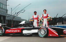 Chandhok & Senna SIGNED  Mahindra Racing Portrait , Formula E , Donington 2014