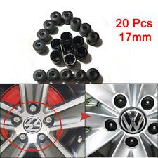 20X Wheel Bolt Nut Cap Cover For Volkswagen VW Golf Bora Passat Jetta 17mm Black