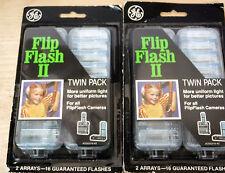 NEW  (2) TWIN PACKS Vintage GE FLIP FLASH II Bulbs
