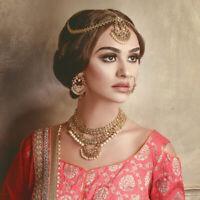 Mahal Baalian Style indian Earrings Encrusted with Swarovski crystals & pearls