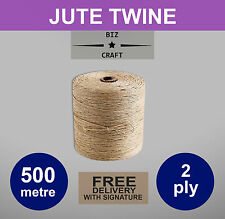 Jute Twine String 500m for Arts Crafts Floristry Gardening Wedding Gift Tags