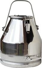 5 Gal. Milk Can Tote (Bail Handle) Stainless Steel 20 Qt. Heavy Duty; Sealed Lid