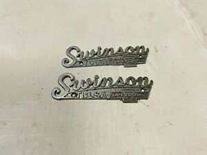 Dealer Badge Swinson Chevrolet Tulsa, Oklahoma Chevy Metal Fender Emblem Camaro