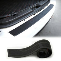 Black Rubber trunk/rear bumper protector cover plate Protector Cover 90x 8cm