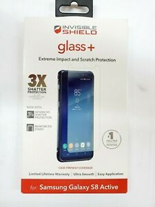 ZAGG Invisibleshield Glass + Screen Protector for Samsung Galaxy S8 ACTIVE Only